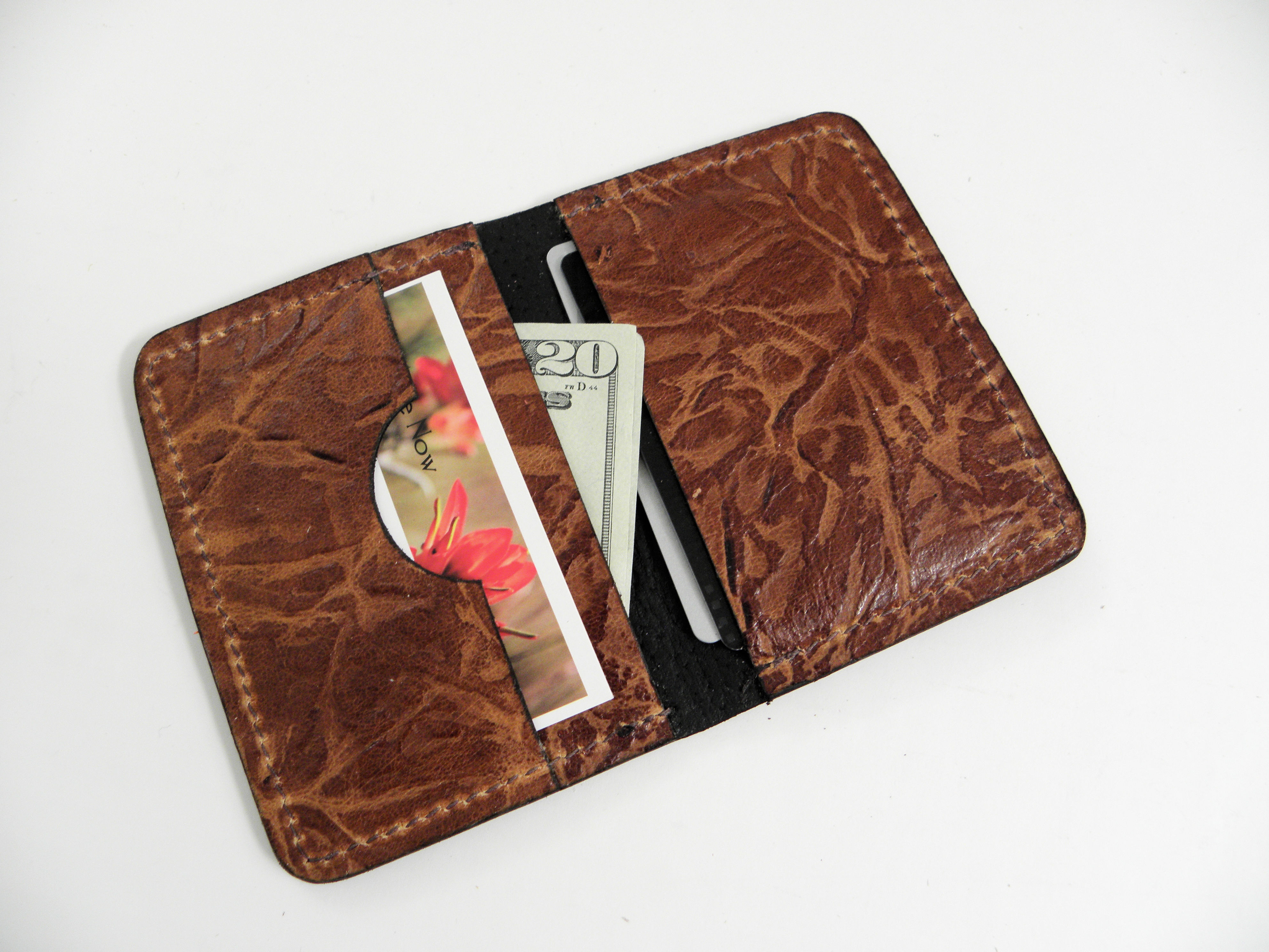 RFID Minimalist Wallet Open Bark