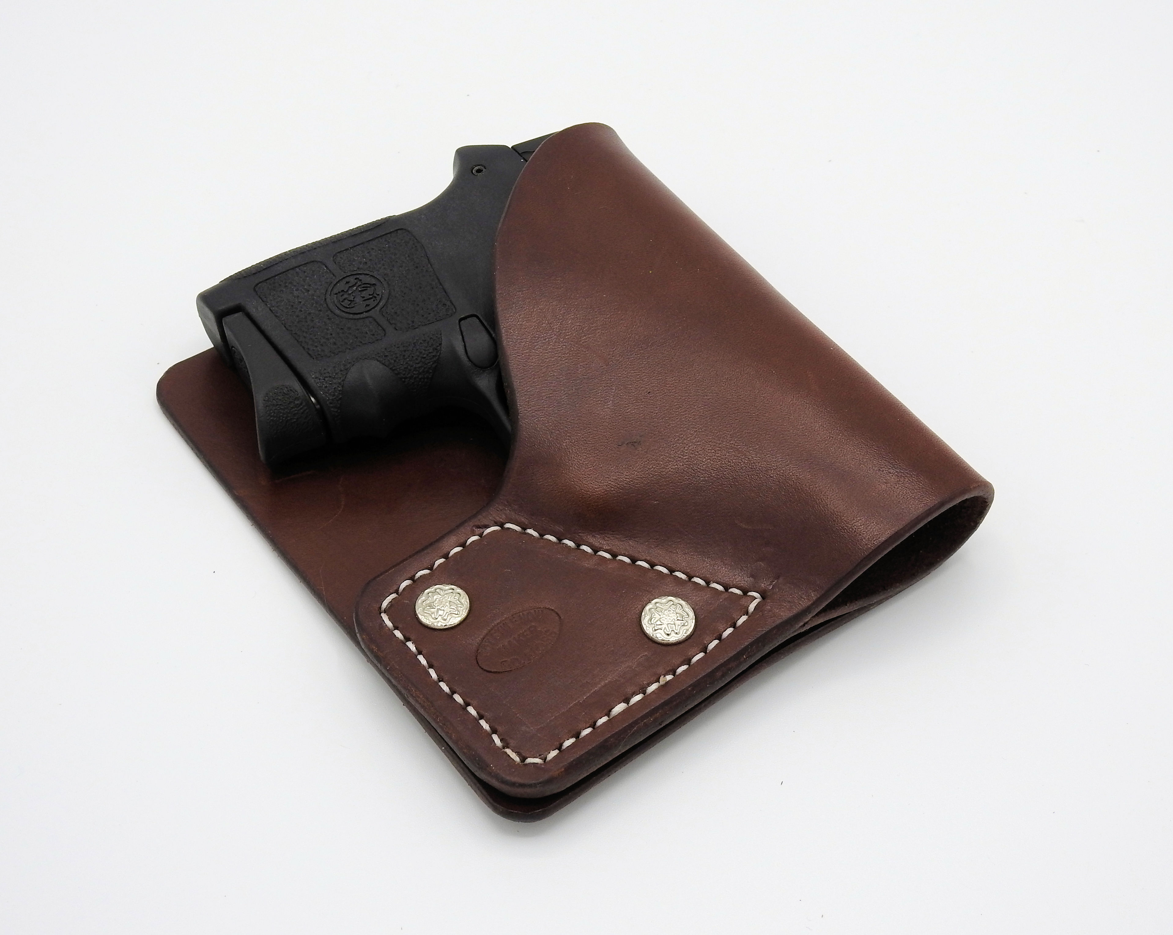 Leather Pocket Holster S&W Bodyguard 380 KAHR P380 Ruger LCP Pistol  Adjustable 3 in 1 Brown